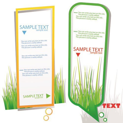 Green grass with cloud for text vector 03
