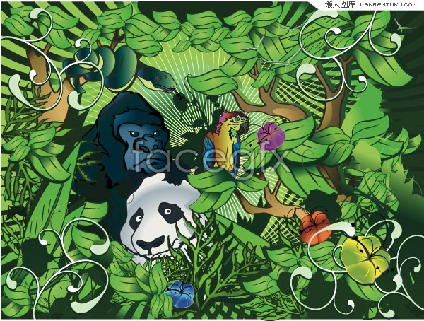 Green jungle animals vector over millions vectors stock photos green jungle animals vector toneelgroepblik Choice Image