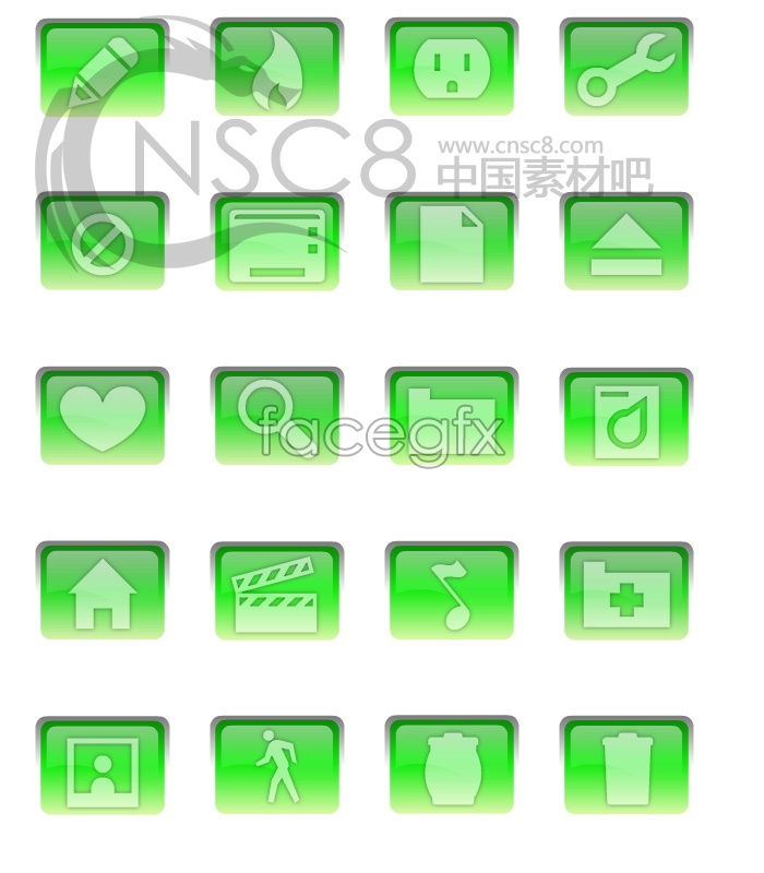 Green series-system icon