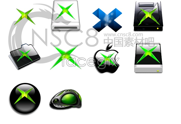 Green star Apple-System icon