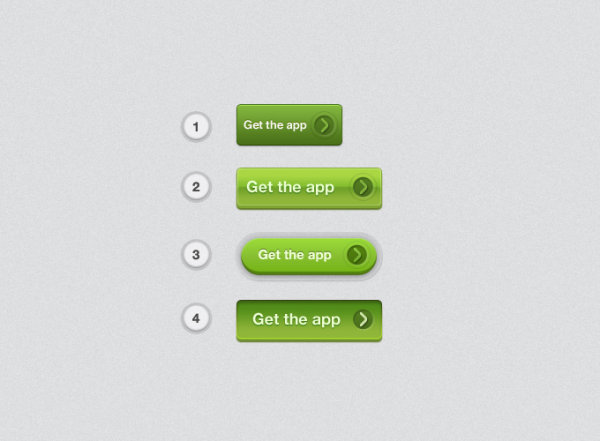 Green textured button