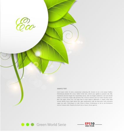 Green world creative Eco background vector 01 free