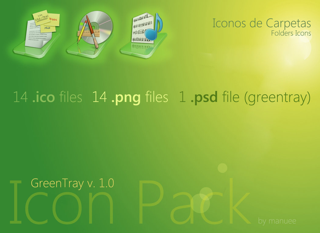 GreenTray Icon Pack