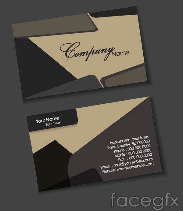 Grey Business Card Template Vector