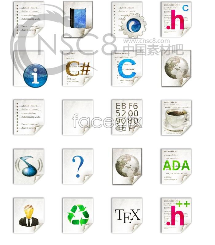 Grey computer file icon