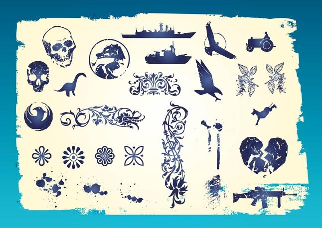 Grunge Vector Clip Art free