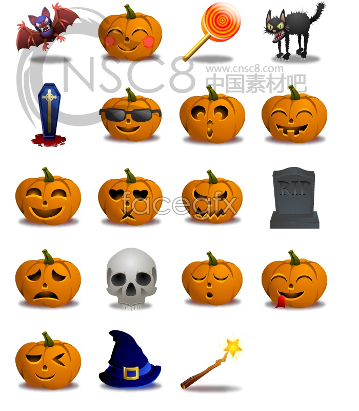 Halloween Pumpkin series icons
