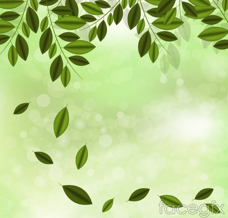 Halo Green Branch background vector