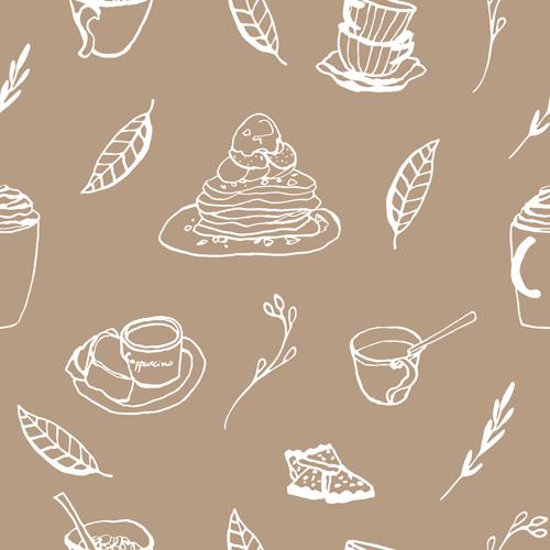 Hand drawn coffee and cake seamless pattern vector 02 free over hand drawn coffee and cake seamless pattern vector 02 free toneelgroepblik Image collections