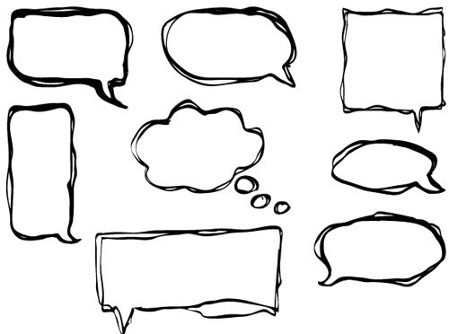 hand drawn speech bubbles creative vector free – over millions, Powerpoint templates