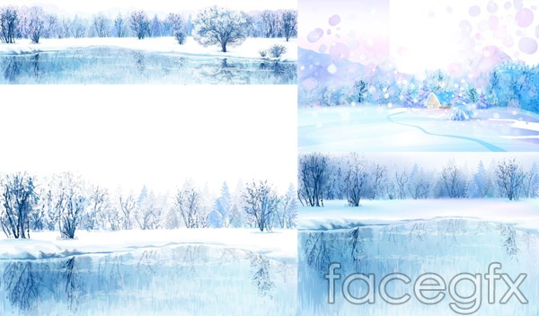 Hand Painted Winter Beauty Vector  Over Millions Vectors Stock