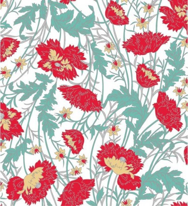 handpainted flower pattern background vector