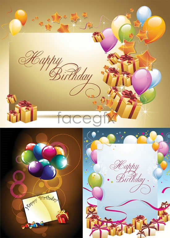 Happy birthday greeting cards vector Over millions vectors – Happy Birthday Card Psd