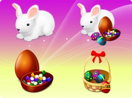 Happy Easter icons pack