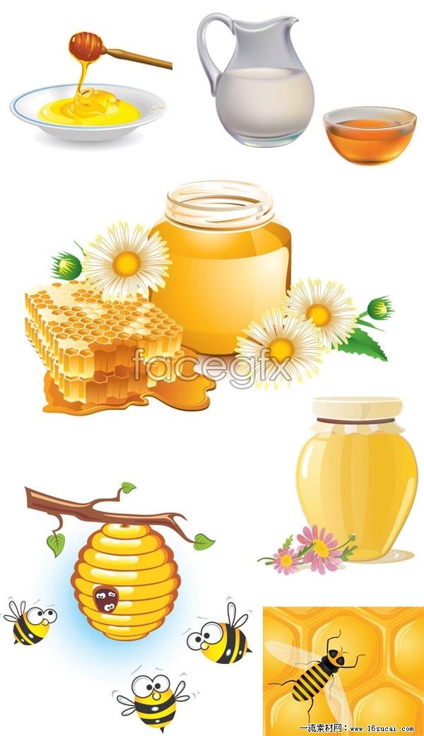 Harvest the honey bee vector
