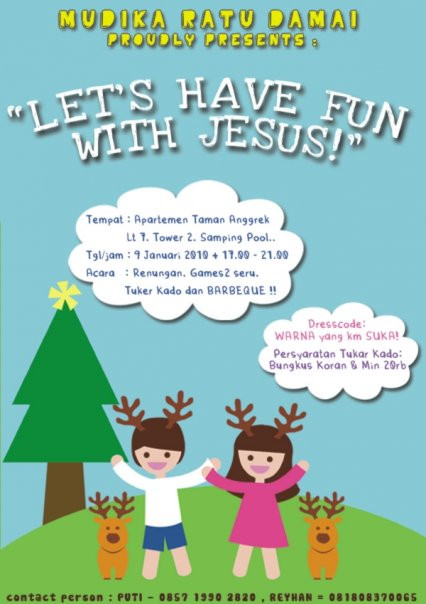 HAVE FUN WITH JESUS POSTER