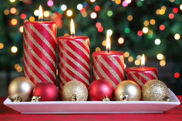 HD Christmas candles pictures download