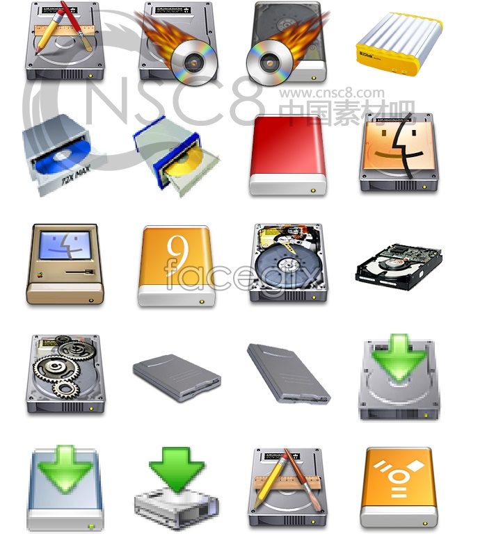 HD series system icons