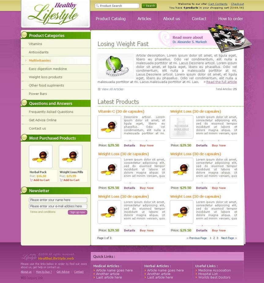 Health Ecommerce Site Full 01