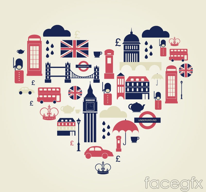 Heart of london tourism element background vector over millions heart of london tourism element background vector toneelgroepblik Choice Image