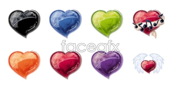 Heart-shaped love desktop icons