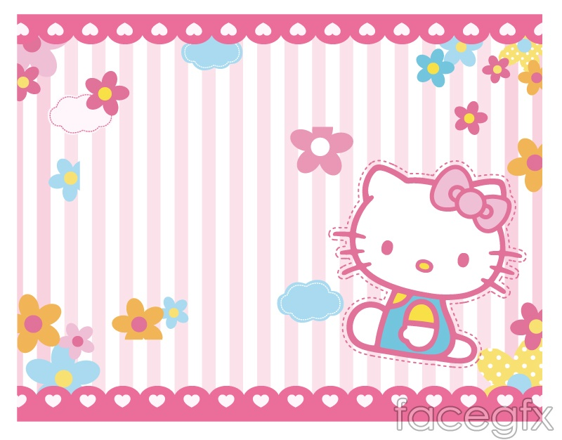 Hello kitty backgrounds arrow amount of vector – Over millions ...