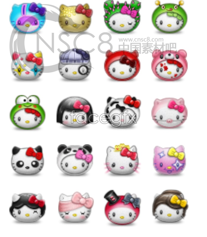 Hello Kitty desktop icons