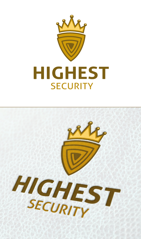 Highest Security Logo template