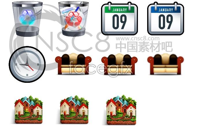 Home facilities desktop icons