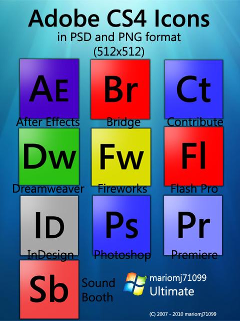 Homemade Adobe CS4 Dock Icons