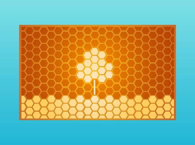 Honeycomb Tree vector free