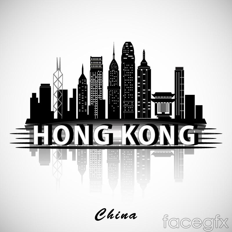 hong kong buildings silhouette vector – over millions vectors, Modern powerpoint