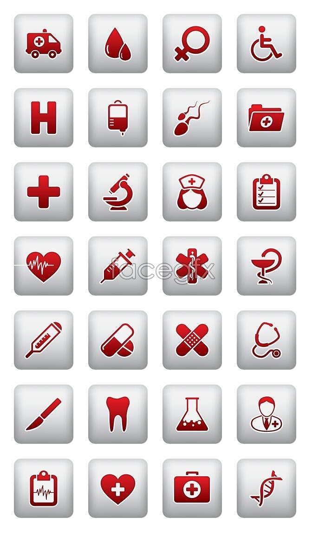 Hospital flag icons