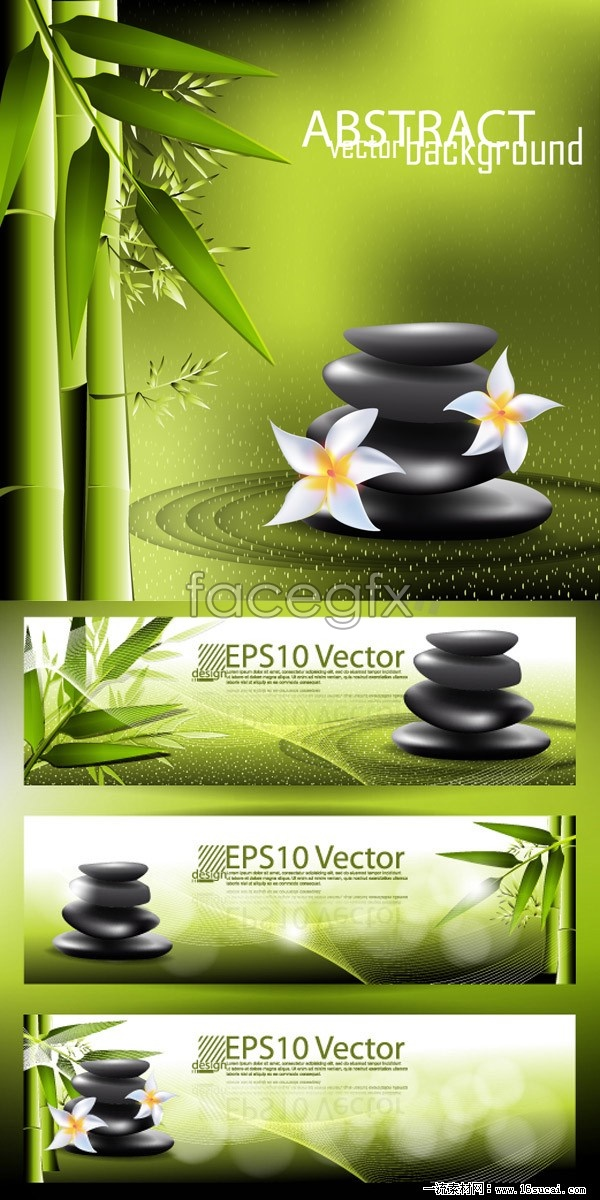 Hot Springs natural elements vector