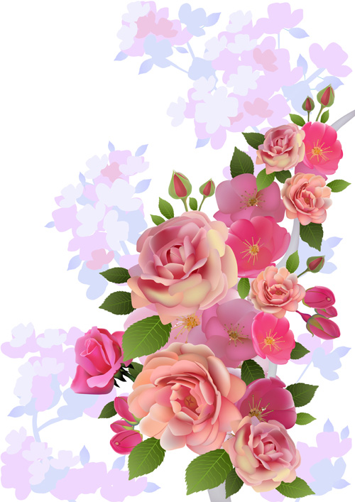 Huge collection of beautiful flower vector graphics 07 free