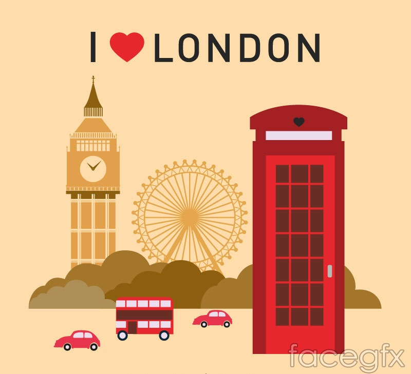 I Love London Graphic Design Vector Over Millions