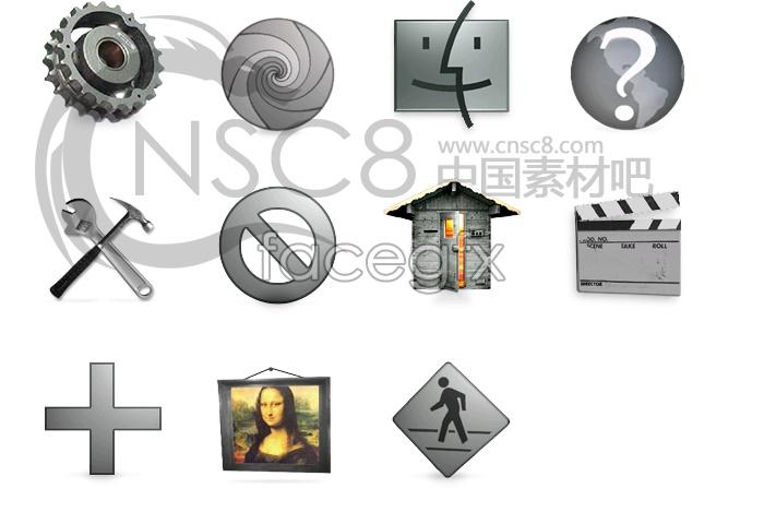 Icon gray tones series 2