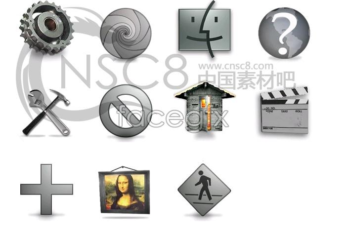 Icon gray tones series 3