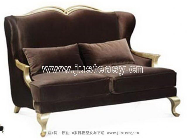 Imitation European home-based sofa 3D model (including materials)