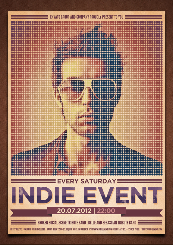 Indie Event Flyer/Poster PSD Template