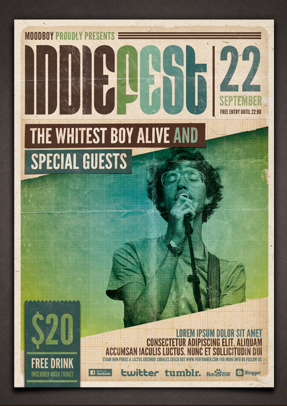 Indie Fest Flyer/Poster PSD Template