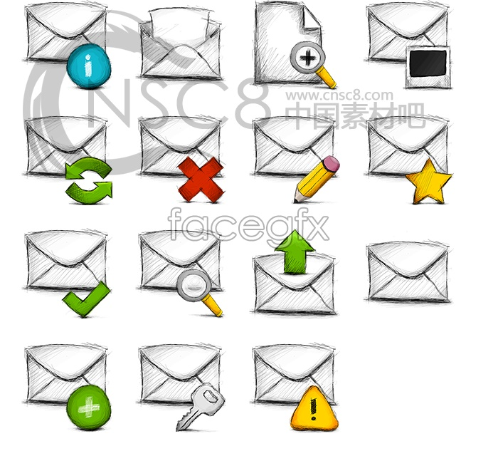 Information mail desktop icons
