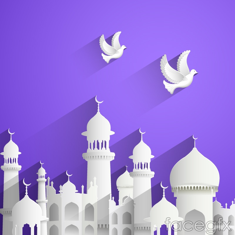 Islamic powerpoint templates bellacoola innovative islamic architecture and dove vector over millions powerpoints templates toneelgroepblik Image collections