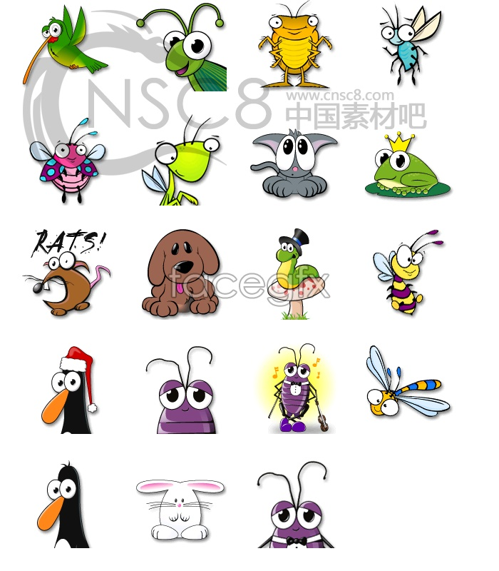 Insects and small animals icons