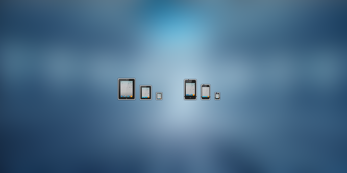 iPad and iPhone icons PSD