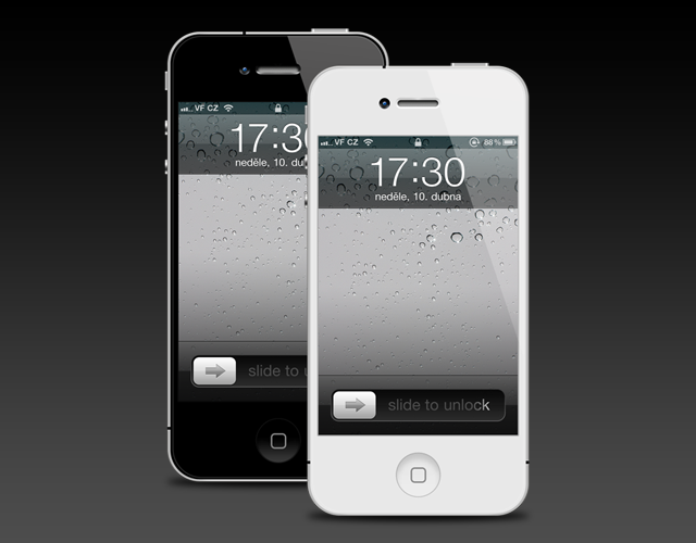 iPhone 4 Template Version 2 PSD