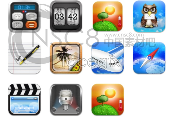 IPHONE 4S desktop icons