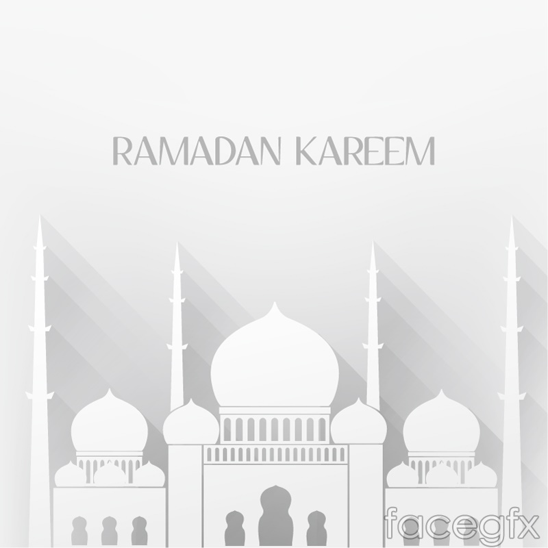 Islamic mosque white background vector