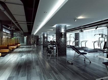 Large fitness models 3D model