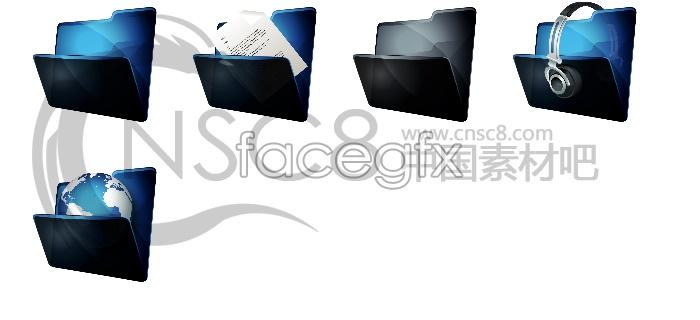 Large folder icons